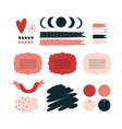 Hand drawn elements for your design Label vector image vector image