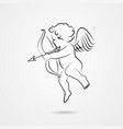 hand drawn sketch of cupid vector image vector image