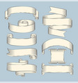 hand drawn sketch set of ribbons icon vector image