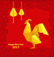 happy chinese new year 2017 of rooster with vector image vector image