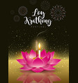 happy loy krathong festival travel thailand vector image vector image