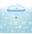 Happy New Year and Merry Christmas e-card vector image vector image