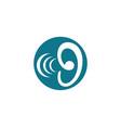 hearing logo template icon design vector image vector image