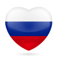 Heart icon of Russia vector image vector image