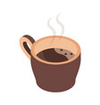 hot coffee cup brewing isometric icon design vector image vector image