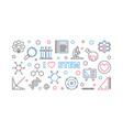 i love stem concept outline banner or vector image vector image