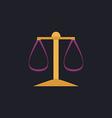 justice scale computer symbol vector image vector image