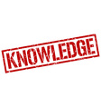 knowledge stamp vector image vector image