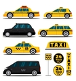 Modern and classic taxi cars vector image vector image