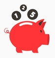 Money Red Pig Bank with Coins vector image vector image