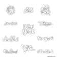 New York - hand drawn dotwork calligraphy and vector image vector image