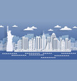 new york paper landmark usa city skyline view vector image