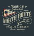 northwest arctic ocean sailboat cargo cruise vector image vector image