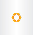 orange circle star icon vector image vector image