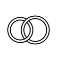 pair rings marriage rings - line icon vector image