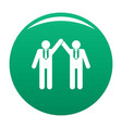 partnership icon green vector image vector image