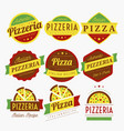 pizza labels vector image