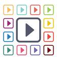play flat icons set vector image vector image
