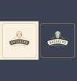 restaurant logo template chef vector image vector image