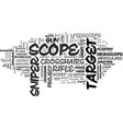 scope word cloud concept vector image vector image