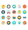 set of education icon school graduated book vector image