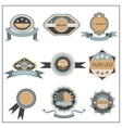Set retro emblem ribbon vector image