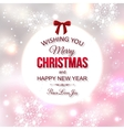 Shining typographical christmas background vector image vector image