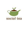 social tea concept design template vector image