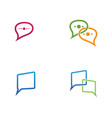 speech bubble chat icon logo template vector image