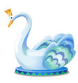 statue a swan with a crown isolated on vector image vector image