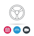 Steering wheel icon Car drive control sign