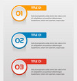 text infographic templates for business vector image vector image