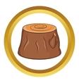 Tree stump icon vector image vector image
