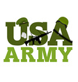 United States Army Military text logo American vector image vector image