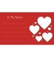 Valentine day card with love on red backgrounds vector image vector image