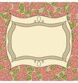 Vintage frame floral background vector image vector image