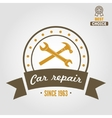 Vintage mechanic labels emblems and logo vector image