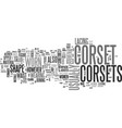 what is a corset text word cloud concept vector image vector image