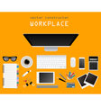 Working place in flat design Constructor of your