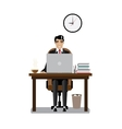 Workplace businessman vector image vector image