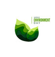 world environment day banner concept ecology vector image
