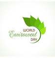 world environment day concept logo design - 5th vector image vector image