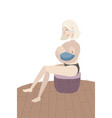 mother breastfeeding her young child breastfeed vector image