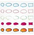 Colorful comic speech bubbles set collection vector image