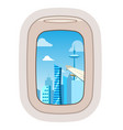 aairplane window traveling plane and vector image vector image