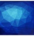 Abstract blue low poly bright technology vector image vector image