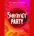 abstract flyer poster design summer beach party vector image vector image
