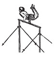 acrobat vintage vector image vector image