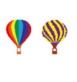 air balloon travel fly in the style of pixel art vector image vector image