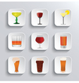 Alcohol and beer web icons set vector image vector image